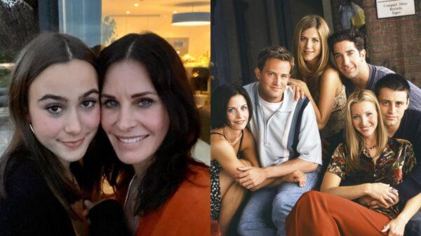 Courtney Cox tem a melhor reação ao ver sua filha dizer qual personagem de 'Friends' ela namoraria